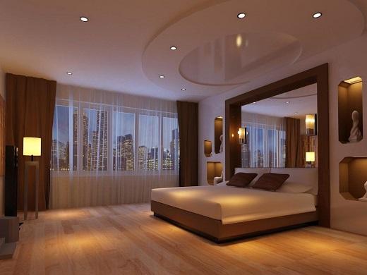 Đèn LED màu vàng tạo cảm giác ấm cúng cho phòng ngủ