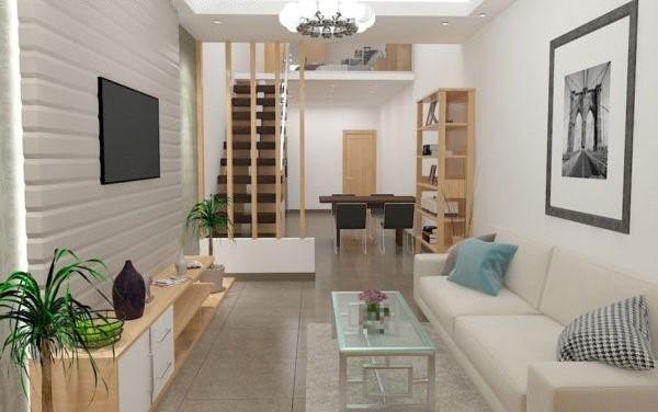 Màu sắc hài hòa khi sử dụng thiết kế nội thất nhà 3 tầng