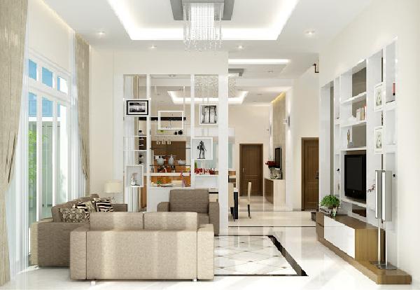 Phòng khách có thiết kế đơn giản