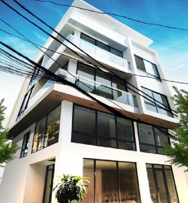 Mẫu xây dựng nhà phố công ty đã hoàn thành