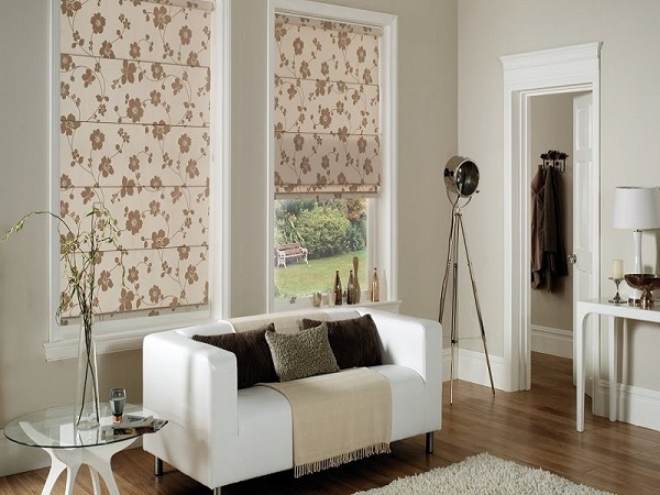 Rèm cửa roman hiện đại cho căn phòng
